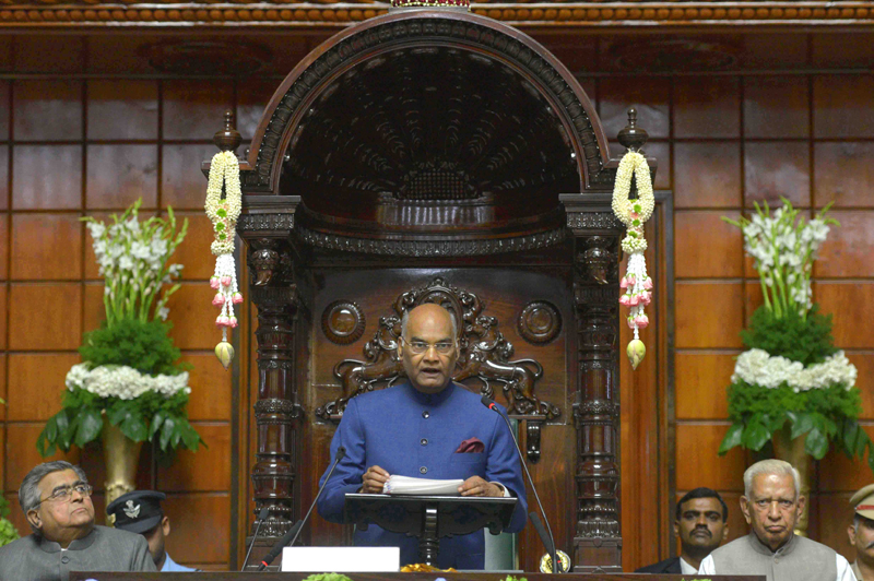 ADDRESS BY THE PRESIDENT OF INDIA, SHRI RAM NATH KOVIND AT THE JOINT SESSION OF