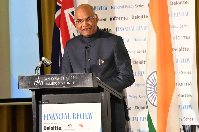 ADDRESS BY THE PRESIDENT OF INDIA, SHRI RAM NATH KOVIND AT THE AUSTRALIAN FINANC