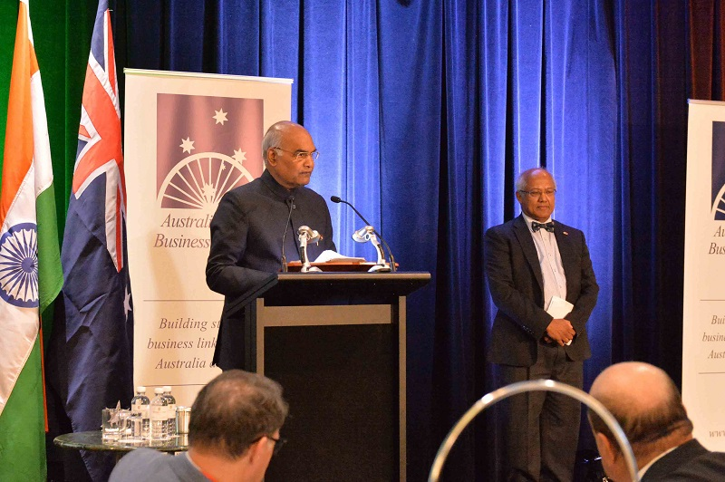 ADDRESS BY THE PRESIDENT OF INDIA, SHRI RAM NATH KOVIND AT THE AUSTRALIA-INDIA B