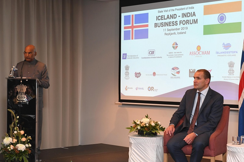 ADDRESS BY THE PRESIDENT OF INDIA, SHRI RAM NATH KOVIND AT THE INDIA-ICELAND BUS