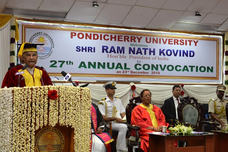 ADDRESS BY THE PRESIDENT OF INDIA, SHRI RAM NATH KOVIND AT THE 27TH CONVOCATION
