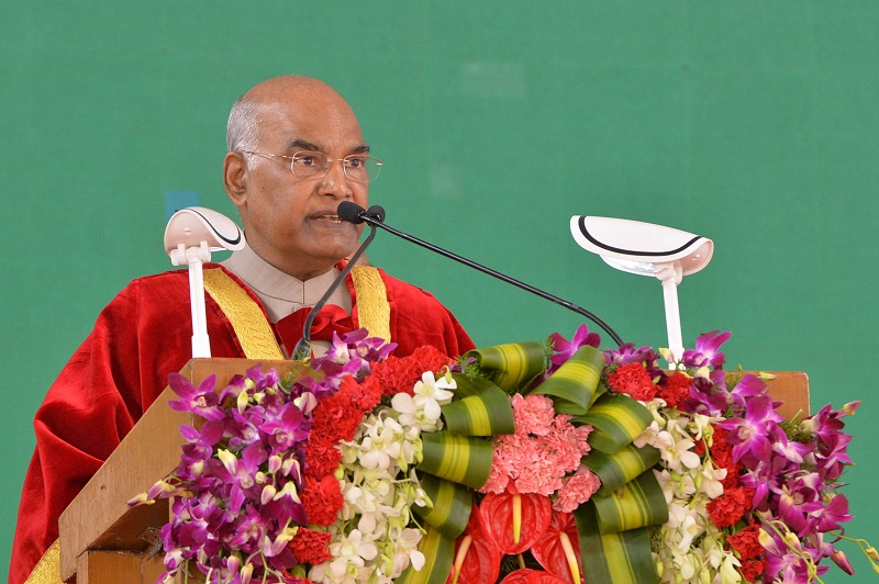 ADDRESS BY THE PRESIDENT OF INDIA, SHRI RAM NATH KOVIND AT THE CONVOCATION CEREM